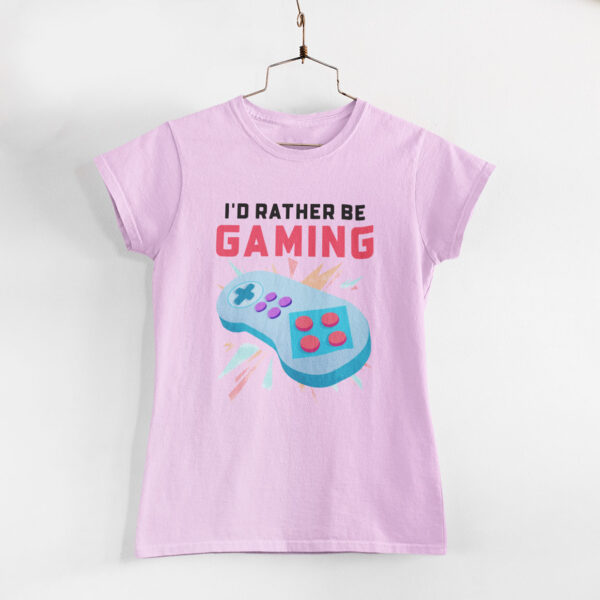 Be Gaming Women Light Pink Round Neck T-Shirt