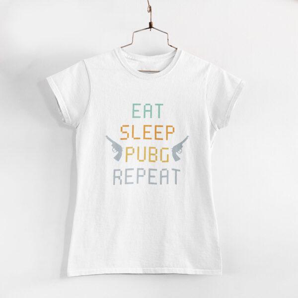 Pubg Women White Round Neck T-Shirt