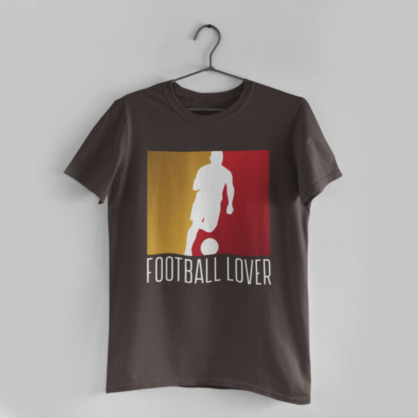 Football Lover Charcoal Grey Round Neck T-Shirt