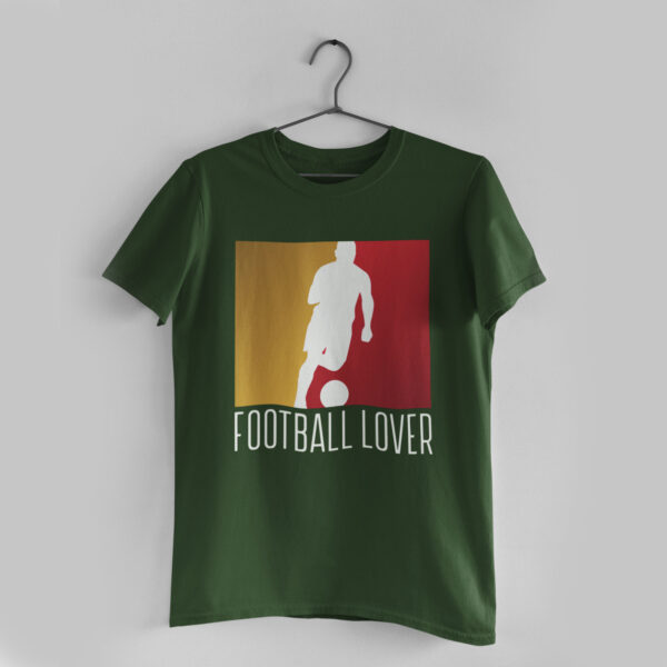 Football Lover Olive Green Round Neck T-Shirt