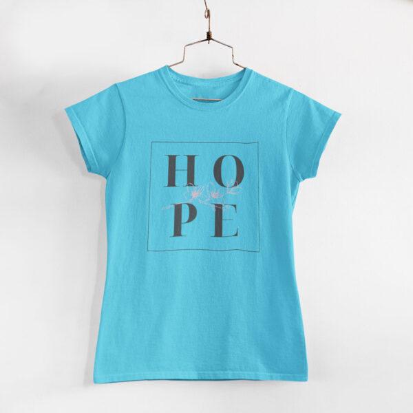 Hope Sky Blue Round Neck T-Shirt