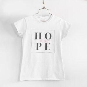 Hope White Round Neck T-Shirt