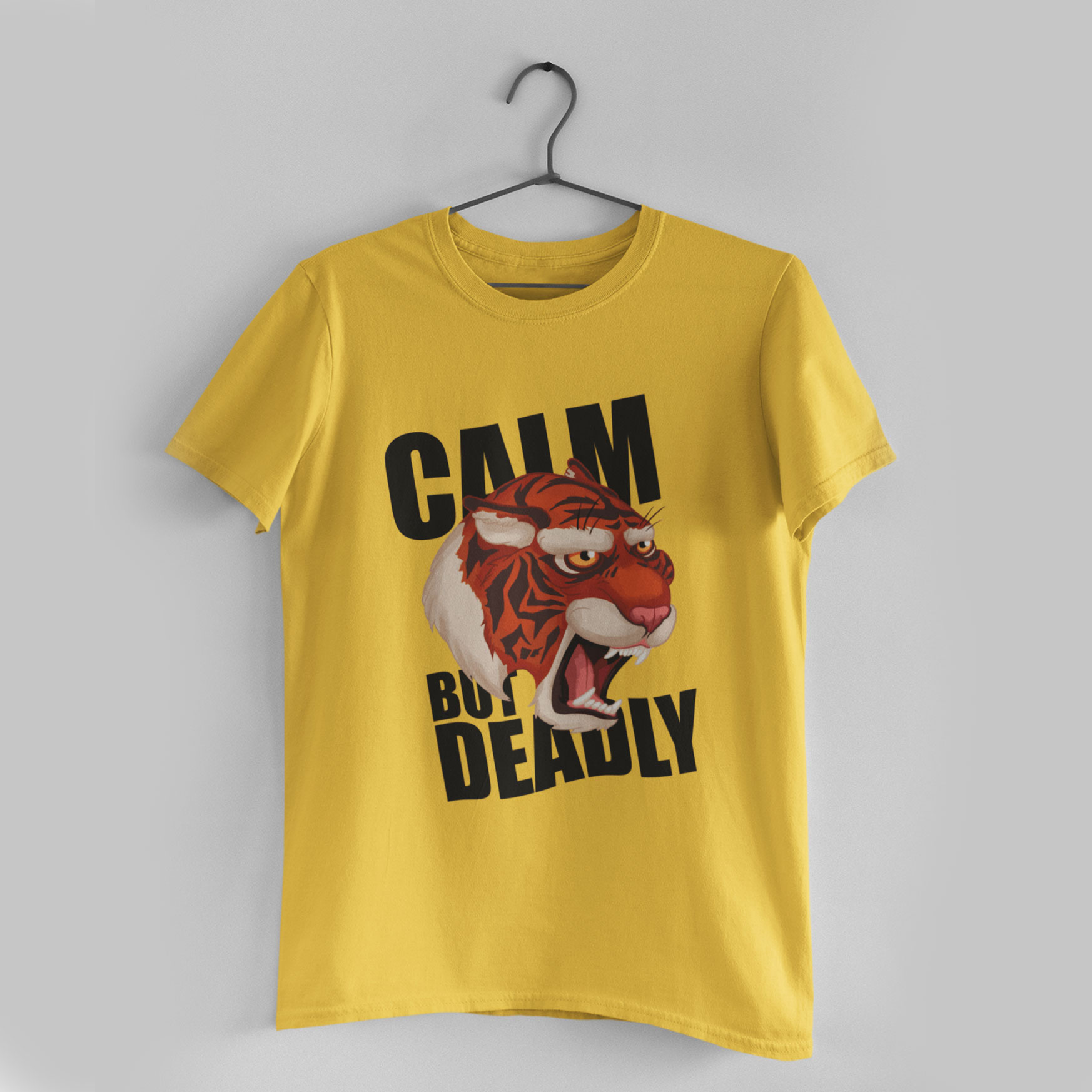 Calm But Deadly Golden Yellow T-Shirt