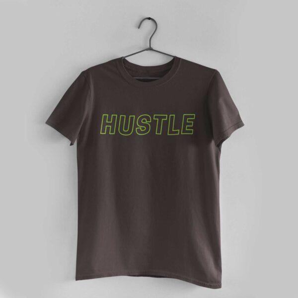 Hustle Charcoal Grey Round Neck T-Shirt
