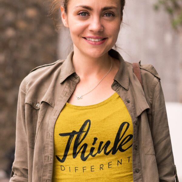 Think Different Round Neck T-Shirt