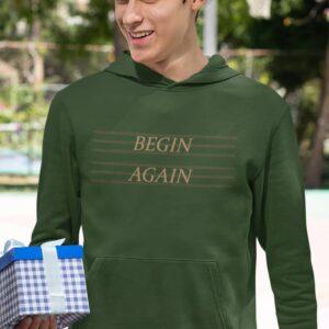 Begin Again Olive Green Hoodie