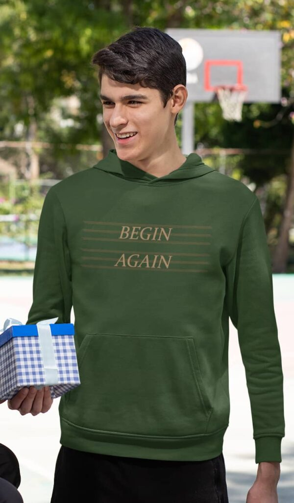 Begin Again Olive Green Hoodie
