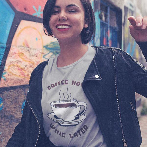 Wine Later Women Round Neck T-shirt