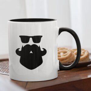 Beard Love Black Inner Colored Mug