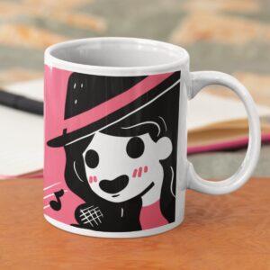 Singing Girl Ceramic Mug