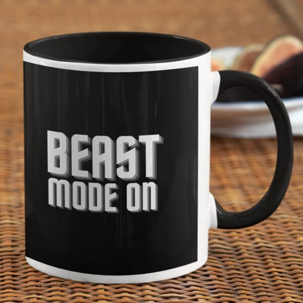 Beast Mode On Black Inner Colored Mug