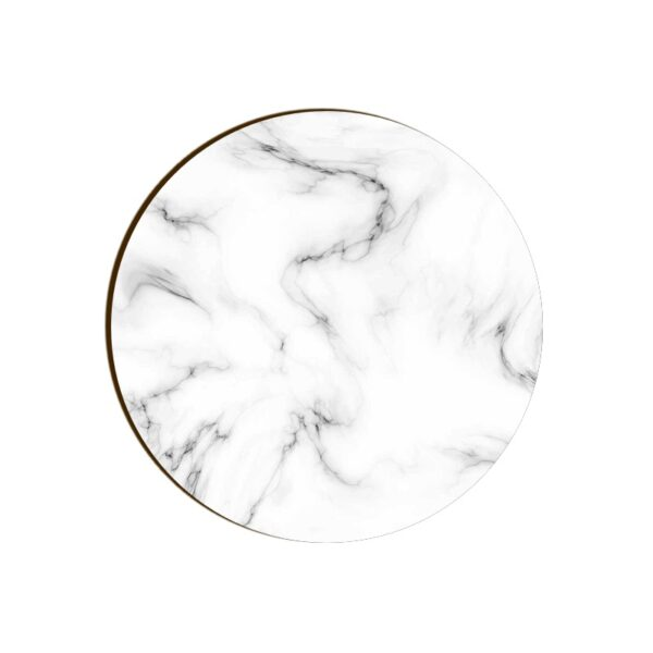 White Marble Round Coaster