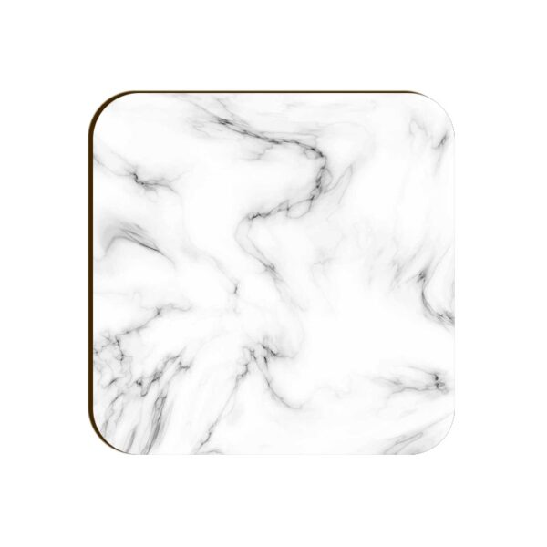White Marble Square Coaster