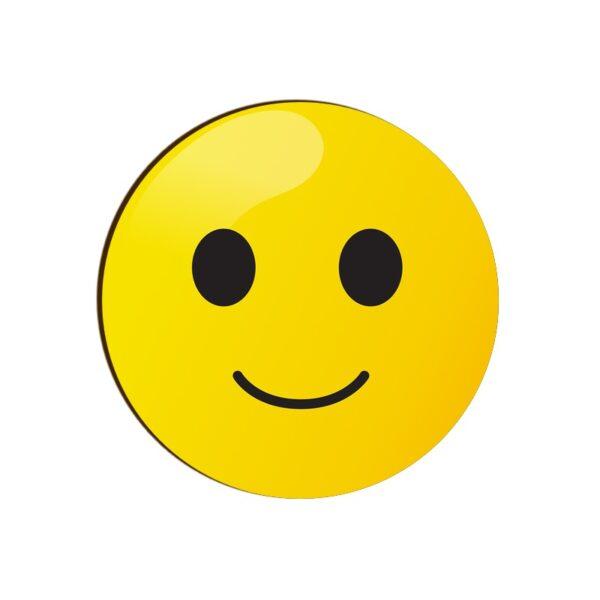 Smiling Face Emoji Round Coaster