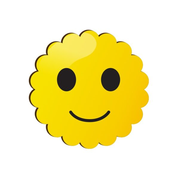 Smiling Face Emoji Scallop Coaster