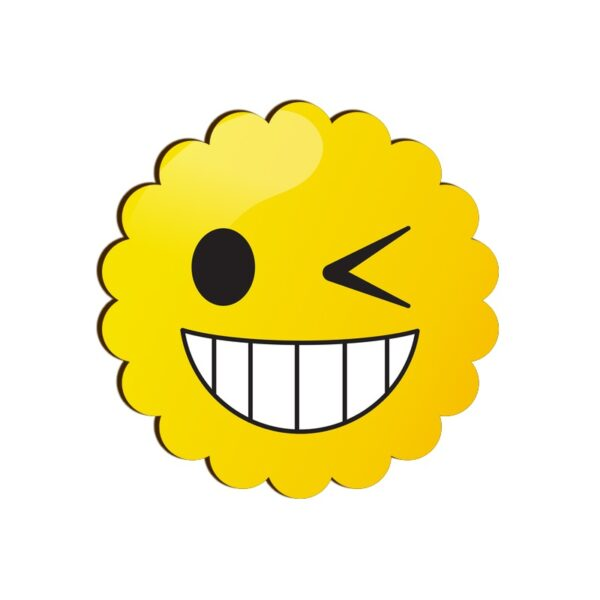Winking Face Emoji Scallop Coaster