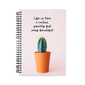 Life is Like a Cactus Spiral Notebook