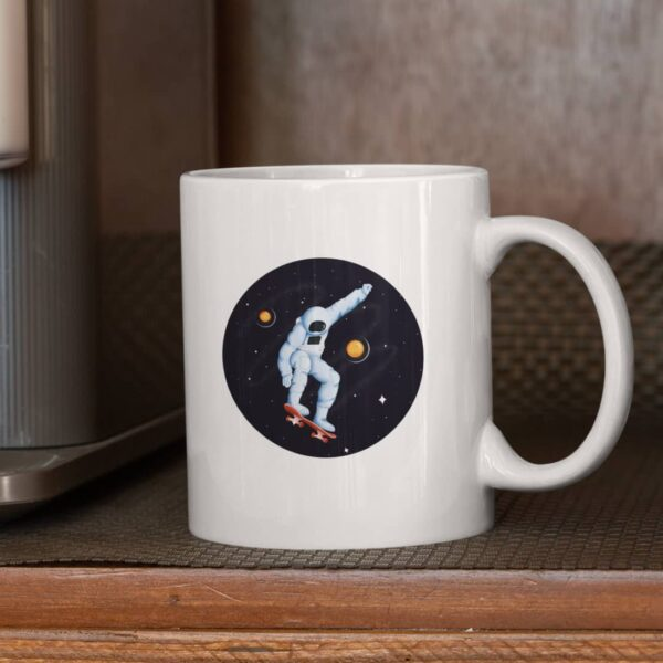 Rolling In Space Ceramic Mug