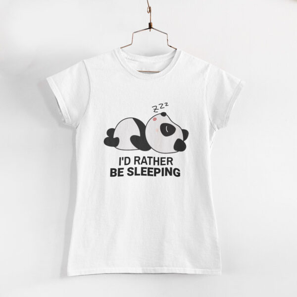 I'd Rather Be Sleeping White Women Round Neck T-Shirt