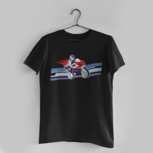 Biker Black Round Neck T-Shirt