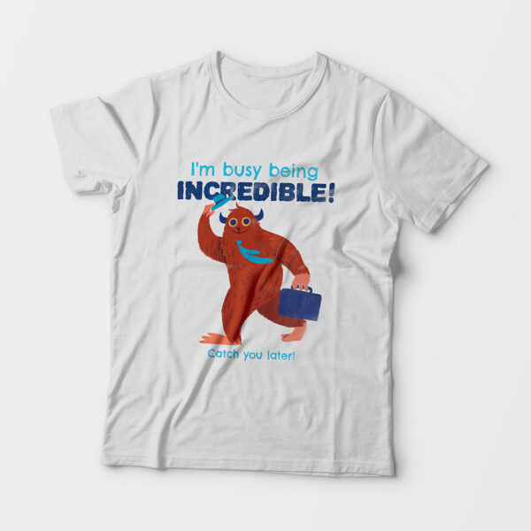 Incredible Kid's Unisex White Round Neck T-Shirt