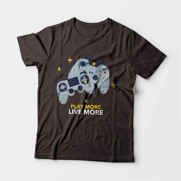 Play More Kid's Unisex Charcoal Grey Round Neck T-Shirt