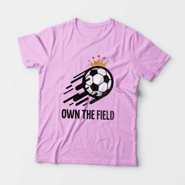 Own The Field Kid's Unisex Light Pink Round Neck T-Shirt