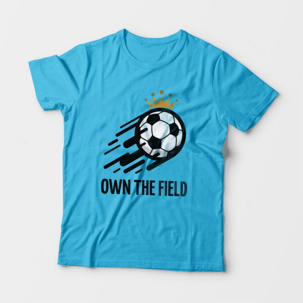 Own The Field Kid's Unisex Sky Blue Round Neck T-Shirt
