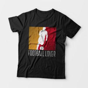 Football Lover Kid's Unisex Black Round Neck T-Shirt