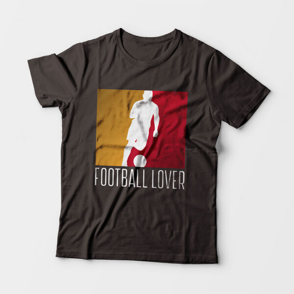 Football Lover Kid's Unisex Charcoal Grey Round Neck T-Shirt