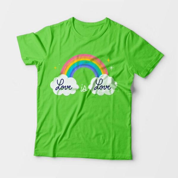 Love Is Love Kid's Unisex Liril Green Round Neck T-Shirt