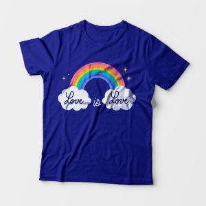 Love Is Love Kid's Unisex Royal Blue Round Neck T-Shirt