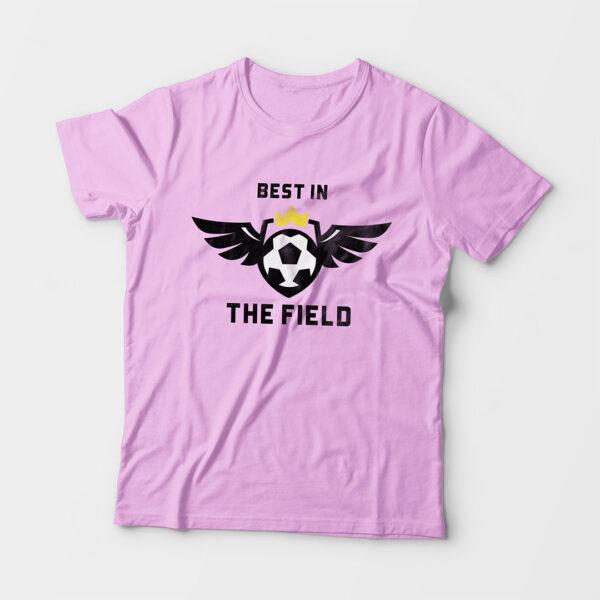 Best in the Field Kid's Unisex Light Pink Round Neck T-Shirt