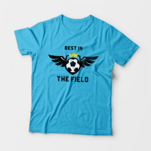 Best in the Field Kid's Unisex Sky Blue Round Neck T-Shirt