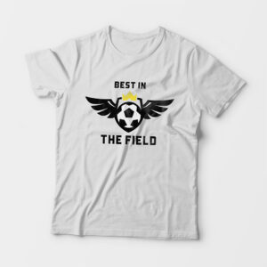 Best in the Field Kid's Unisex White Round Neck T-Shirt