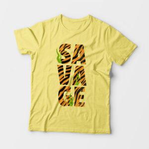 Savage Kid's Unisex Butter Yellow Round Neck T-Shirt