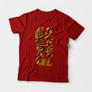 Savage Kid's Unisex Red Round Neck T-Shirt