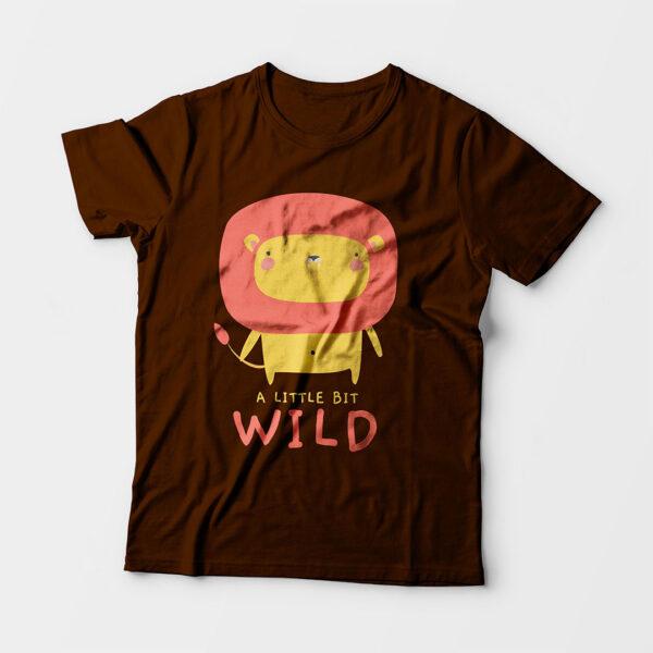 Wild Coffee Brown Kid's Unisex Round Neck T-Shirt