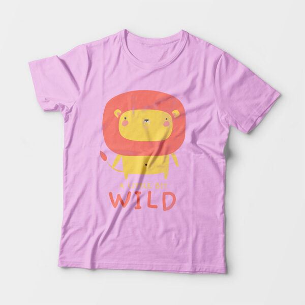 Wild Light Pink Kid's Unisex Round Neck T-Shirt