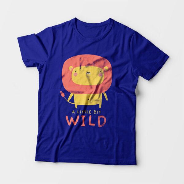 Wild Royal Blue Kid's Unisex Round Neck T-Shirt