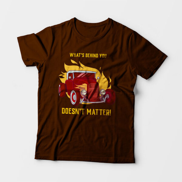 What's Behind You Toddler's Unisex Coffee Brown Round Neck T-Shirt
