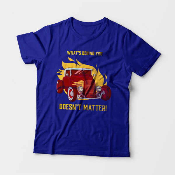 What's Behind You Toddler's Unisex Royal Blue Round Neck T-Shirt