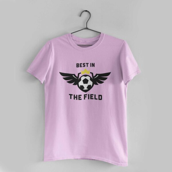 Best in the Light Pink Round Neck T-Shirt