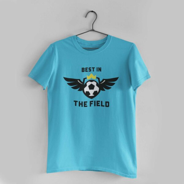 Best in the Field Sky Blue Round Neck T-Shirt