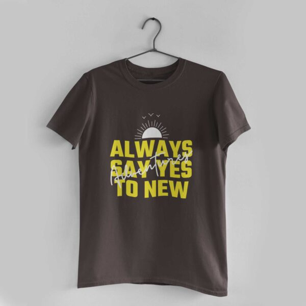 Adventures Charcoal Grey Round Neck T-Shirt
