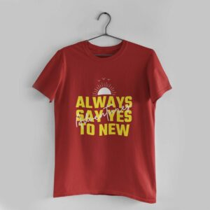 Adventures Red Round Neck T-Shirt