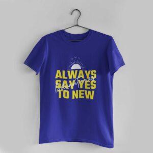 Adventures Royal Blue Round Neck T-Shirt