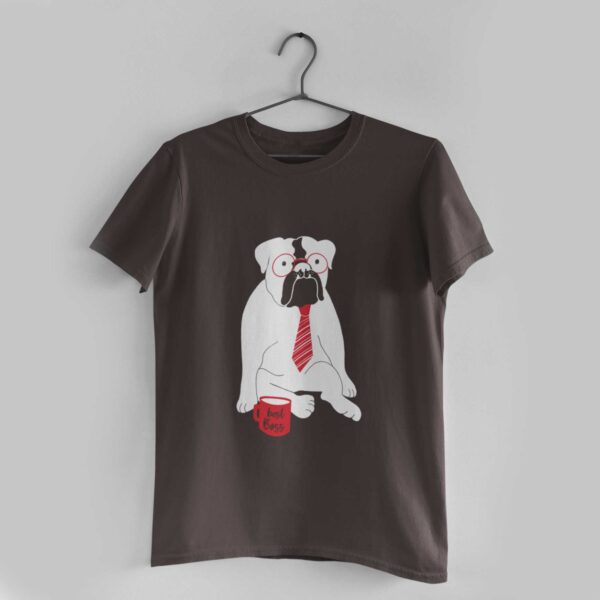 Best Boss Charcoal Grey Round Neck T-Shirt