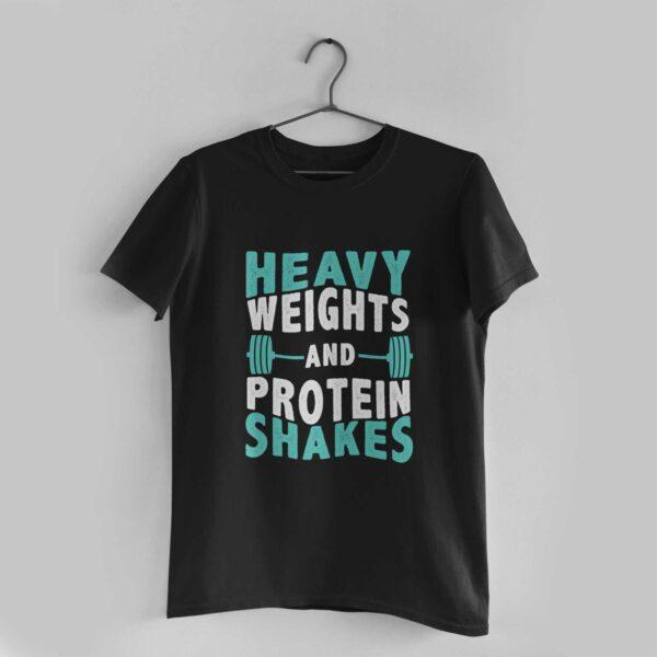 Heavy Weights Black Round Neck T-Shirt