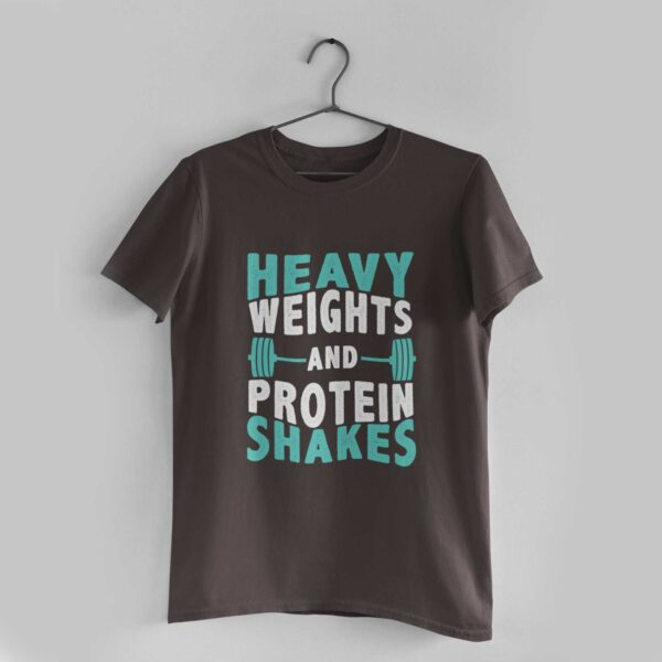 Heavy Weights Charcoal Grey Round Neck T-Shirt